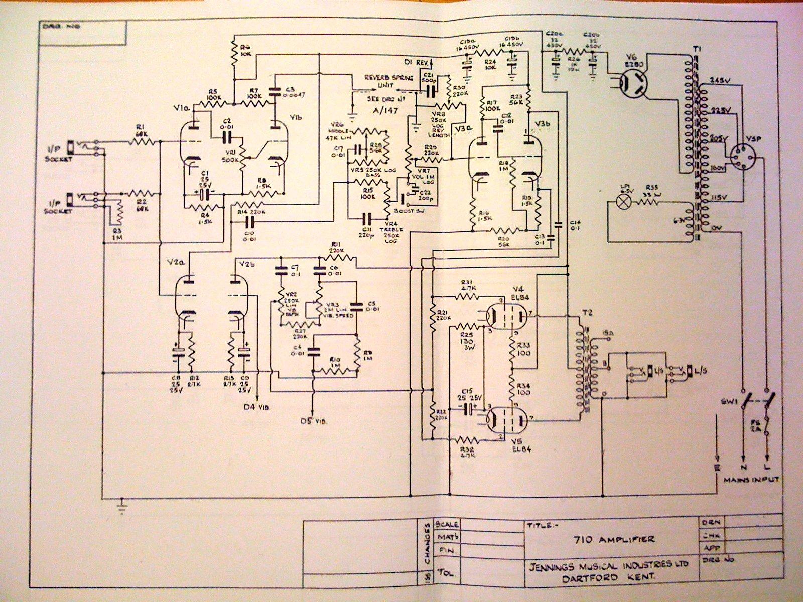 Vox UL710 schematics